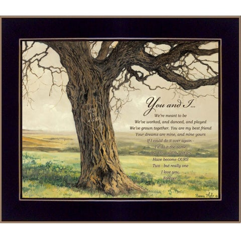"""""""Forever"""" By Bonnie Mohr, Printed Wall Art, Ready To Hang Framed Poster, Black Frame"""