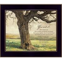 """Forever"" By Bonnie Mohr, Printed Wall Art, Ready To Hang Framed Poster, Black Frame"