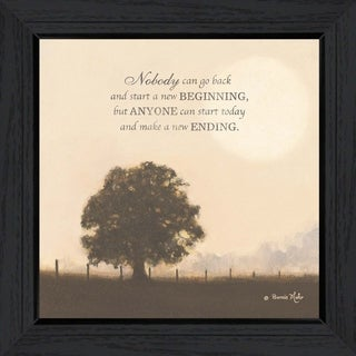 """""""New Ending"""" By Bonnie Mohr, Printed Wall Art, Ready To Hang Framed Poster, Black Frame"""