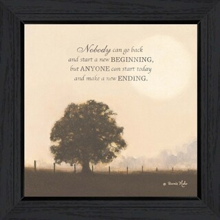 """New Ending"" By Bonnie Mohr, Printed Wall Art, Ready To Hang Framed Poster, Black Frame"