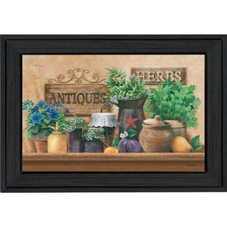"""""""Antiques and Herbs"""" By Ed Wargo, Printed Wall Art, Ready To Hang Framed Poster, Black Frame"""