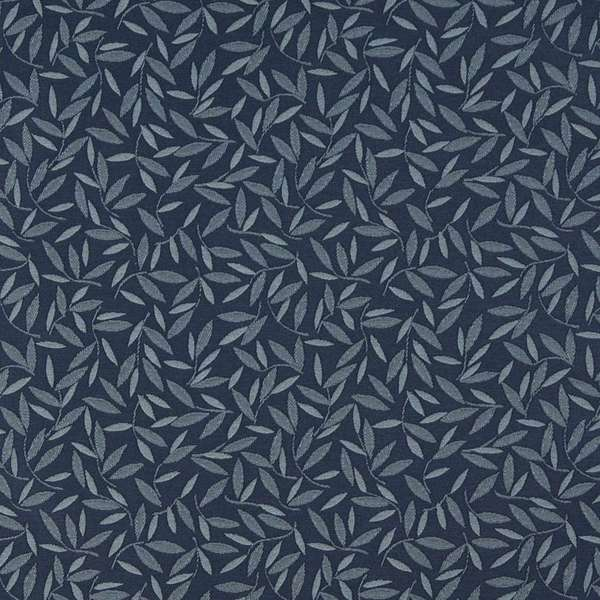 Shop E204 Navy Blue Floral Leaf Residential Contract Upholstery