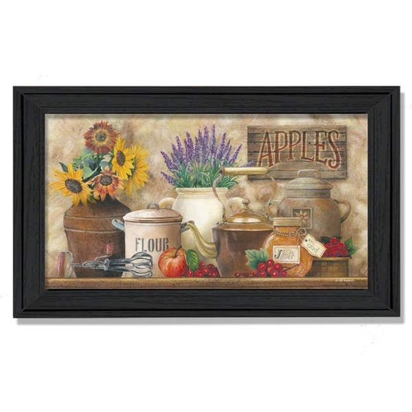 Antique Kitchen By Ed Wargo Printed Wall Art Ready To Hang Framed Poster Black Frame Overstock 10280784