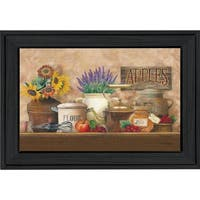 """Antique Kitchen"" By Ed Wargo, Printed Wall Art, Ready To Hang Framed Poster, Black Frame"