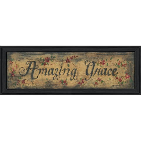 """""""Amazing Grace"""" By Gail Eads, Ready to Hang Framed Wall Art, Black Frame"""