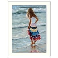 """The Striped Skirt"" By Georgia Janisse, Printed Wall Art, Ready To Hang Framed Poster, White Frame"