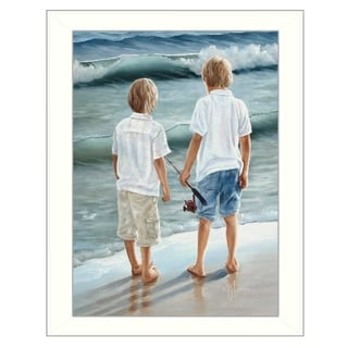 """""""Going Fishing"""" by Georgia Janisse Printed Framed Wall Art"""