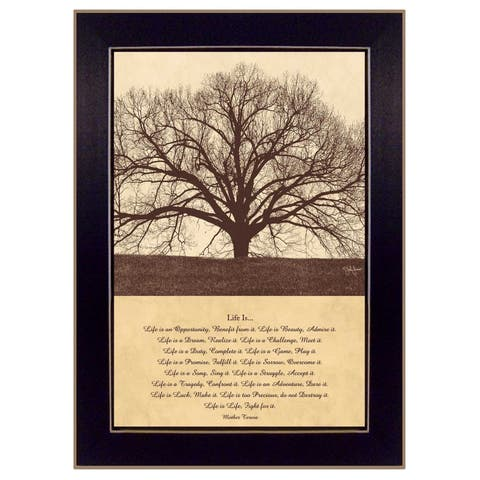 """""""Life Is"""" By John Jones, Printed Wall Art, Ready To Hang Framed Poster, Black Frame"""