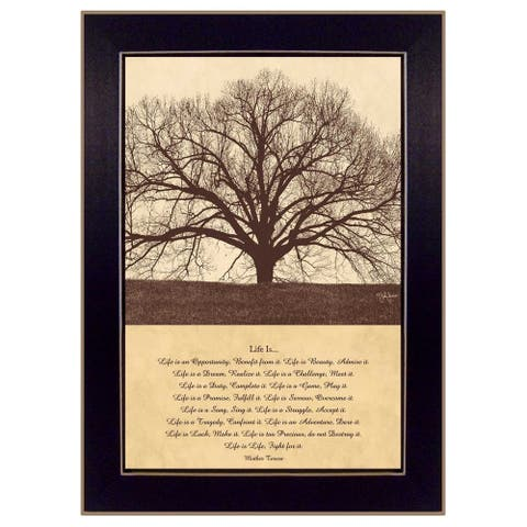 """Life Is"" By John Jones, Printed Wall Art, Ready To Hang Framed Poster, Black Frame"