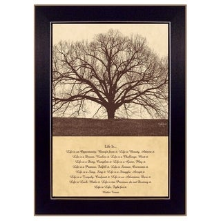 """Life IS"" by John Jones Printed Framed Wall Art"