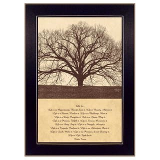 """""""Life Is"""" By John Jones, Printed Wall Art, Ready To Hang Framed Poster, Black Frame