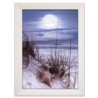 """The Seashore"" By John Jones, Printed Wall Art, Ready To Hang Framed Poster, White Frame"