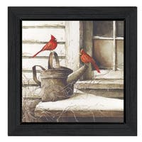 """Waiting For Spring"" By John Rossini, Printed Wall Art, Ready To Hang Framed Poster, Black Frame"