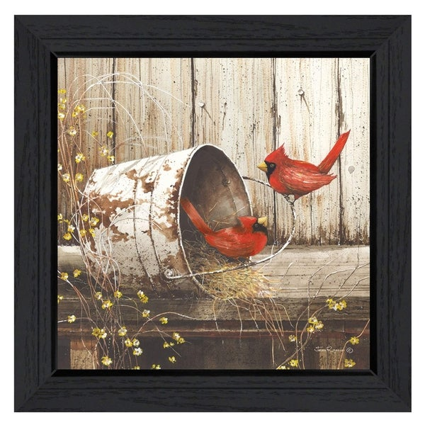 """Playing Around"" By John Rossini, Printed Wall Art, Ready To Hang Framed Poster, Black Frame"