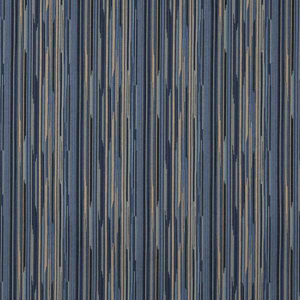 Shop E226 Navy Blue Gold Abstract Stripe Contract Upholstery Fabric ...