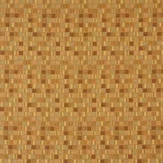 E258 Gold Small Geometric Boxes Contract Upholstery Fabric