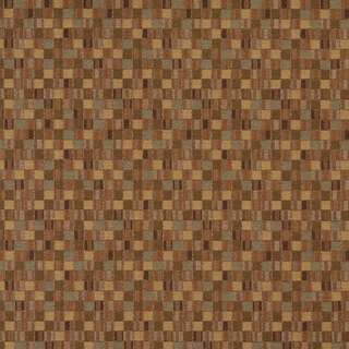 E260 Gold Green Scale Geometric Boxes Contract Upholstery Fabric