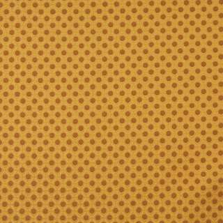 E263 Gold Brown Polka Dot Diamond Contract Upholstery Fabric