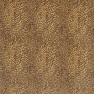 E400 Yellow Leopard Animal Print Microfiber Upholstery Fabric