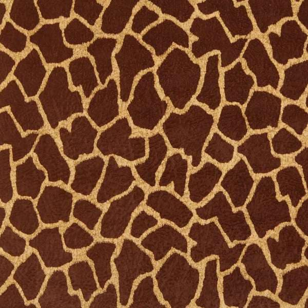 Shop E404 Brown Giraffe Animal Print Microfiber Upholstery Fabric