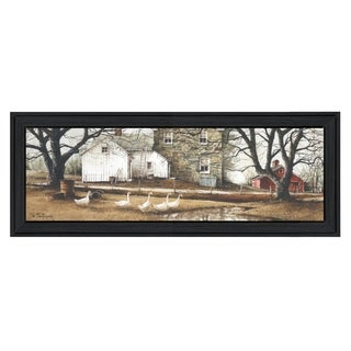 """""""Puddle Jumpers"""" By John Rossini, Printed Wall Art, Ready To Hang Framed Poster, Black Frame"""
