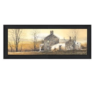 """A New Day"" By John Rossini, Printed Wall Art, Ready To Hang Framed Poster, Black Frame"