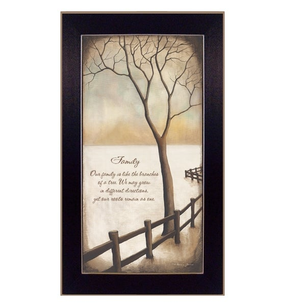 """Family"" By Kendra Baird, Printed Wall Art, Ready To Hang Framed Poster, Black Frame"