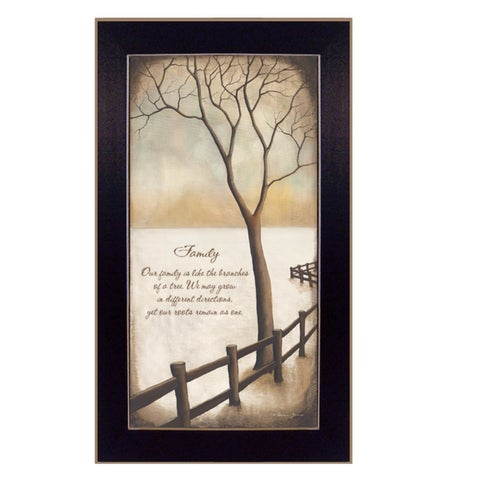 """""""Family"""" By Kendra Baird, Printed Wall Art, Ready To Hang Framed Poster, Black Frame"""