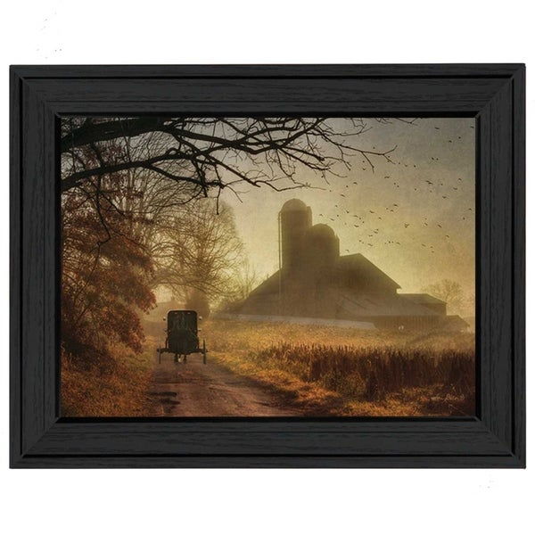 """""""Sunday Morning"""" By Lori Deiter, Printed Wall Art, Ready To Hang Framed Poster, Black Frame"""