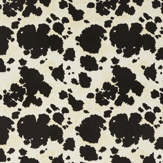 E414 Black and White Cow Animal Print Microfiber Upholstery Fabric (2 options available)