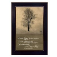 """Its All About Love"" By Marla Rae, Printed Wall Art, Ready To Hang Framed Poster, Black Frame"