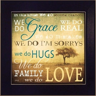 """""""We Do"""" By Marla Rae, Printed Wall Art, Ready To Hang Framed Poster, Black Frame"""