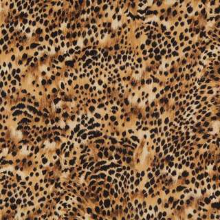 E421 Gold Black Cheetah Animal Print Microfiber Upholstery Fabric