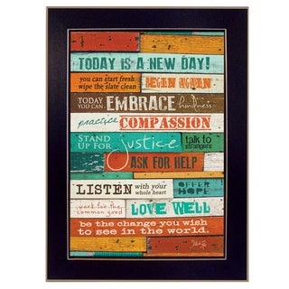 """A New Day"" By Marla Rae, Printed Wall Art, Ready To Hang Framed Poster, Black Frame"