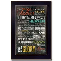 """""""The Lords Prayer"""" By Marla Rae, Printed Wall Art, Ready To Hang Framed Poster, Black Frame"""