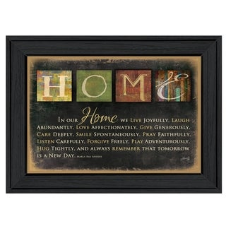 """In Our Home"" By Marla Rae, Printed Wall Art, Ready To Hang Framed Poster, Black Frame"
