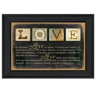 """Love"" By Marla Rae, Printed Wall Art, Ready To Hang Framed Poster, Black Frame"