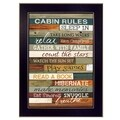 Cabin Rules' 10 x 14-inch Framed Art Wall Decor