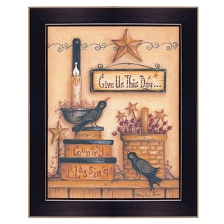 """""""Give Us This Day"""" by Mary June Printed Framed Wall Art"""
