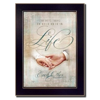 """""""Each Other"""" By Mollie B., Printed Wall Art, Ready To Hang Framed Poster, Black Frame"""