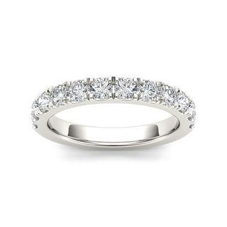 De Couer 14k White Gold 7/8ct TDW Diamond Women's Wedding Band - White H-I