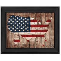 """America The Beautiful"" By Mollie B., Printed Wall Art, Ready To Hang Framed Poster, Black Frame"