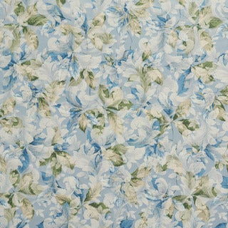 F826 Blue Green Ivory Floral Leaves Jacquard Woven Upholstery Fabric (2 options available)