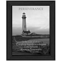 """""""Perseverance"""" By Trendy Decor4U, Printed Wall Art, Ready To Hang Framed Poster, Black Frame"""