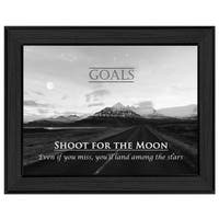 """""""Goals"""" By Trendy Decor4U, Printed Wall Art, Ready To Hang Framed Poster, Black Frame"""