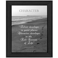 """""""Character"""" By Trendy Decor4U, Printed Wall Art, Ready To Hang Framed Poster, Black Frame"""