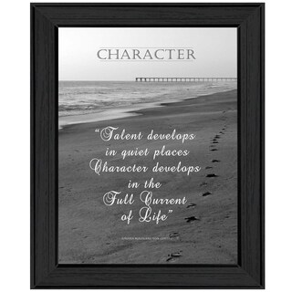 """Character"" By Trendy Decor4U, Printed Wall Art, Ready To Hang Framed Poster, Black Frame"