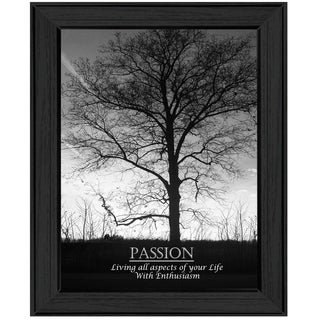 """Passion"" by Trendy Decor 4U Printed Framed Wall Art"