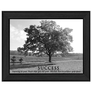 """""""Success"""" By Trendy Decor4U, Printed Wall Art, Ready To Hang Framed Poster, Black Frame"""