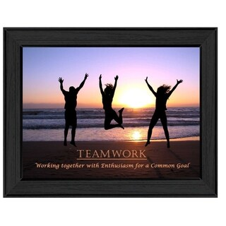 """Teamwork"" By Trendy Decor4U, Printed Wall Art, Ready To Hang Framed Poster, Black Frame"